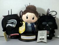 Hallmark Itty Bittys Star Wars Kylo Ren - General Leia - Darth Vader with tags