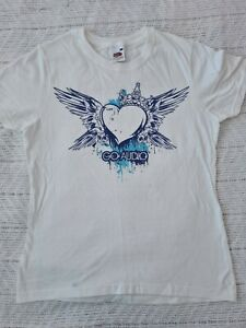Go Audio Heart White Fit Tee - Large