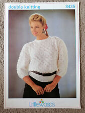 Littlewoods double knitting knit round neck sweater jumper pattern top 8435