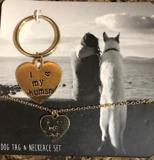 NEW Dog Tag Charm and Owner Necklace Set