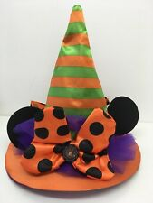 "BNWT Disney World Adultos Halloween Minnie Mouse Orejas Las Brujas Sombrero 15"" De Alto"