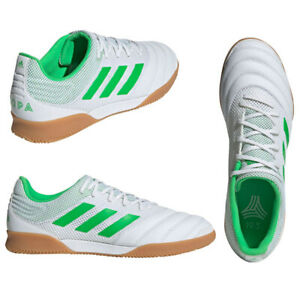 Adidas Copa 19.3 Men's Indoor Soccer Futbol Shoes Sizes 9 White Green NEW