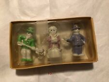 Vintage - 3 Piece Set Giftco Handpainted Glazed Porcelain Figurines