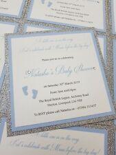 10 x Handmade Personalised Baby Shower Invitations