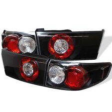 Honda 03-05 Accord 4dr Sedan Black Altezza Rear Tail Brake Lights Lamp Set