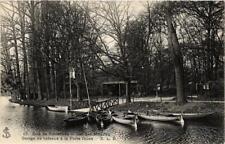 CPA PARIS 12e Bois de Vincennes Lac Des Minimes Garage de bateaux (672646)