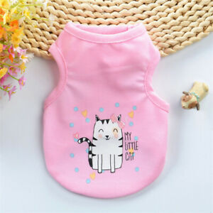 Pet Dog Clothes Puppy T Shirt Clothing For Small Dogs Chihuahua Vest Apparel New