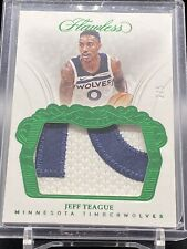 🔥 JEFF TEAGUE SWEET PATCH /5 FLAWLESS 2017-18 Logo Patch very Nice Patch #d 2/5