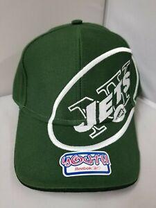 New York Jets NFL Reebok Youth/Children Unisex Green Curved Brim Cap/Hat OSFM