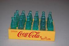 Vintage Miniature Coca Cola Mini Bottles Coke Yellow Plastic Case Crate