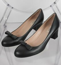 0eef69affd2a Valentino sz 41   US 11 black leather bow front shoes mid heel