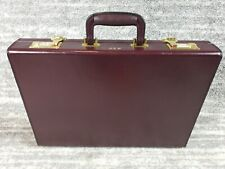 David King Leather Briefcase Burgundy