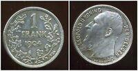 BELGIQUE  1 franc 1904  ( der belgen  )  argent  ( bis )