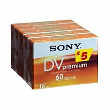 Sony DVM60PR (5 Pack) MiniDV Digital Video Cassette Mini DV Camcorder Tape New