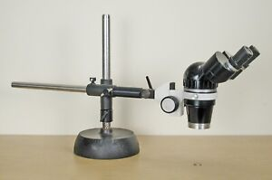 Olympus zoom stereo microscope long reach Adjustable arm