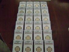 2007-2008-2009 P&D PRESIDENTIAL NGC SMS MS 67 SATIN FINISH 24-COIN DOLLAR SET