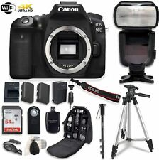 Canon EOS 90D Digital SLR Camera Bundle (Body Only) with Professional Accessory