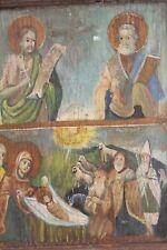 Ancienne icône Orthodoxe sur bois Asie Mineure XVIIIème