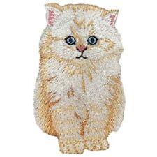 """Angora Cat Applique Patch - Kitten, Kitty, Feline 2-1/8"""" (Iron on)"""