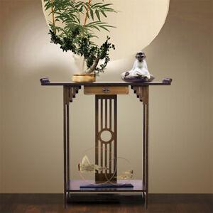 Konsolentisch Holz Beistelltisch mit Schublade -Klassisch orientalisch Design-