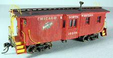 Mullet River C&NW Wood Bay Window Caboose Kit