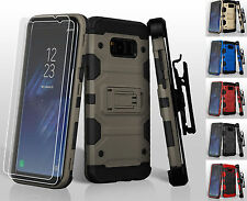 FOR SAMSUNG PHONE MODELS TANK ARMOR HOLSTER CASE IMPACT SHOCKPROOF COVER+ FILM