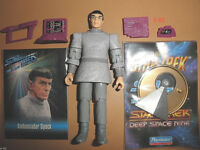 STAR TREK vulcan SPOCK toy FIGURE from TNG unification LEONARD NIMOY + card