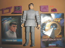 STAR TREK vulcan SPOCK toy FIGURE from TNG unification LEONARD NIMOY + card