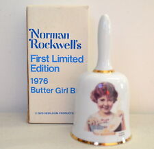 Vintage 1976 Norman Rockwell 1st Limited Edition Butter Bell Girl Made in Japan