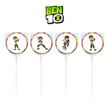 24 Cartoon Network Ben 10 Sticker Labels Seal Bag Lollipop Birthday Party Favor