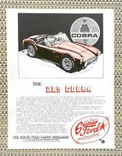 CAROLL SHELBY 260 289 FORD COBRA AC BRISTOL ROADSTER CAR LITERATURE FACT SHEET 9