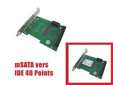 """Adaptateur IDE 3.5"""" 40 points pour SSD mini PCIe mSATA - Equerre de fixation"""