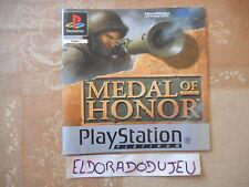 ELDORADODUJEU > NOTICE MEDAL OF HONOR Pour PLAYSTATION PS1