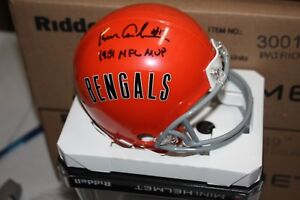 BENGALS KEN ANDERSON #14 SIGNED RIDDELL THROWBACK MINI HELMET RARE W/INSCRIPTION
