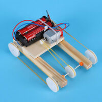 DIY Electric Car Model Physic Science Assembly Wooden Model Kit Toy Educational