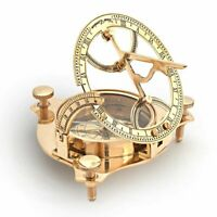 3'' Vintage Nautical Brass Sundial Compass Decor Maritime Gift collectible Home