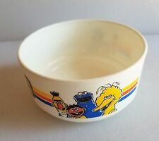 Sesame Place Vintage Whirley Industries Bowl Big Bird-Cookie-Ernie-Bert