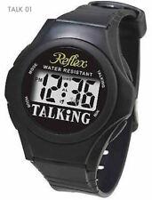 Reflex Talking Watch Blind Partially Sighted Black Strap Water Resistant Talk 01