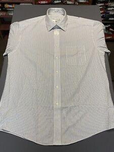NWT Joseph & Feiss Long Sleeve Non Iron Striped Dress Shirt Size 16.5 34/35 NEW