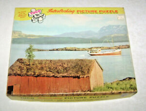 Vintage Norwegian Landscape Tuco Jigsaw Picture Puzzle 14 1/8 x 19