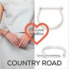 CR LOVE ❤️ NEW! COUNTRY ROAD BRIDAL BRACELET CUFF SILVER - BRIDLE