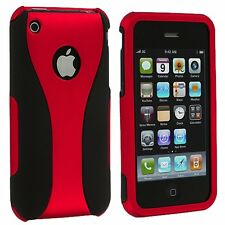 Color Black 3-Piece Rubberized Hard Case Cover for iPhone 3G S 3GS Accessory