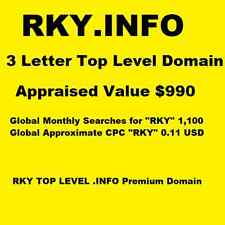 RKY.INFO - Domain Name for Sale - 3 Letter Top Level Domain - 1,100 Searches