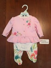 Baby Starters Girls 3 Month 3 Piece Set Outfit Pink Floral Blue Nwt