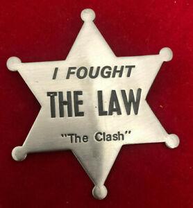 The Clash I Fought The Law Metal Badge Promo Rare! 1979