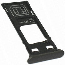 For Sony Xperia X Replacement SIM And SD Card Tray + Cap Black OEM