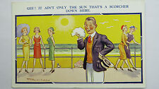 1930s Reg Maurice Risque Humoresque Comic Postcard Sexy Flappers Boobs Fashion