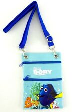 Disney's Finding Dory Crossbody Hipster Bag Purse Passport ID Badge Holder Blue