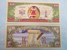 SANTA CLAUS Merry Christmas & Happy New Year >*< $1,000,000 One Million Dollars
