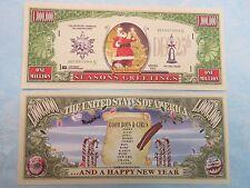 SANTA CLAUS Merry Christmas & Happy New Year >*< $1,000,000 One Million Dollars